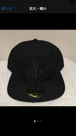 ヤンキース オールブラック キャップ
