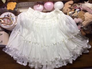 auntie rose シフォンチュールスカート