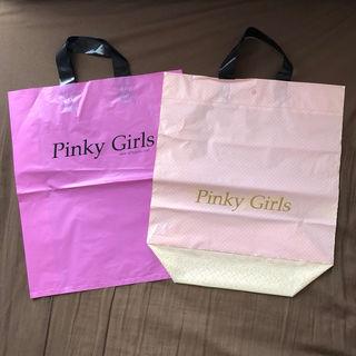 pinky girls ショップ袋