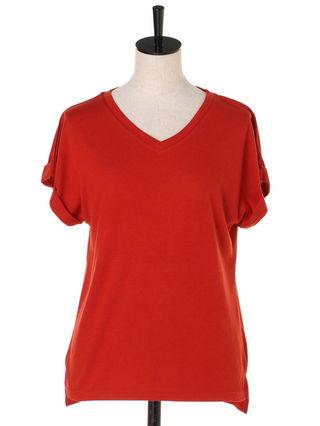 ロールアップルーズTシャツ 半袖 ルーミィーズroomy's