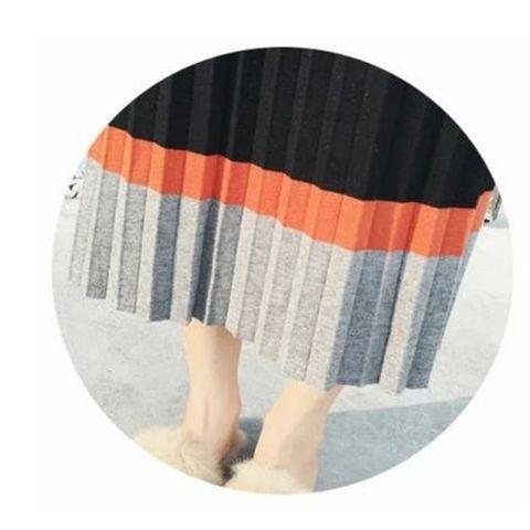 【着心地◎】プリーツ スカート ブラック ロング ミモレ丈