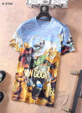 ビトン最高品メンズTシャツ 春夏半袖 トップス
