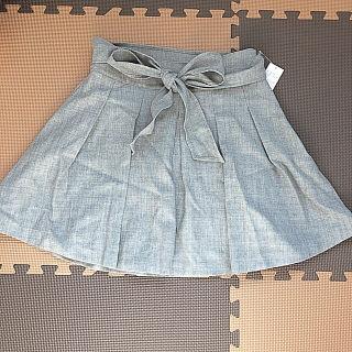 新品R.Fリボンベルト付きギャザースカート