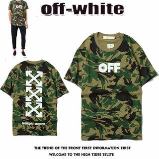 迷彩★オフホワイト半袖 Tシャツ 大人気