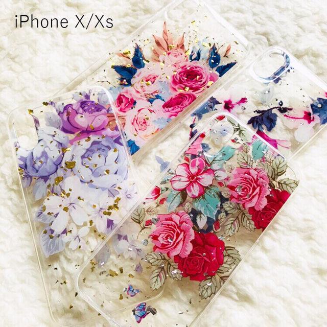 花柄iPhoneケース