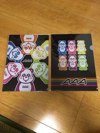 AAA え~パンダ クリアファイル 2点 セット