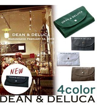 DEAN&DELUCA携帯用折り畳み式エコバッグ(グレー)