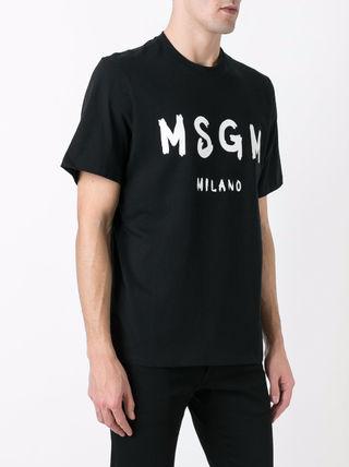 MSGM エムエスジーエム 夏 Tシャツ 男女兼用 ブラック