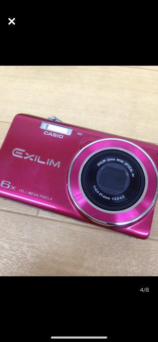 動画も撮れる可愛いピンクのCASIO EXILIM