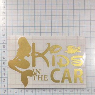 40.KIDS IN CAR ゴールド
