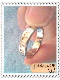今だけ割引ローマ字指輪(金・銀)