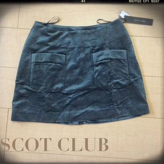 SCOT CLUB ベロア調ミニスカート