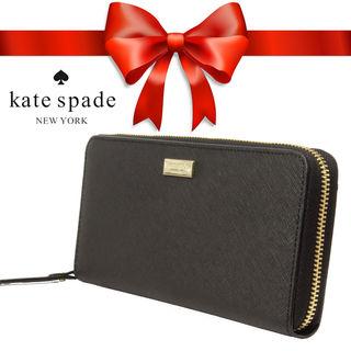 ケイトスペード長財布★ WLRU1498黒★レディース財布