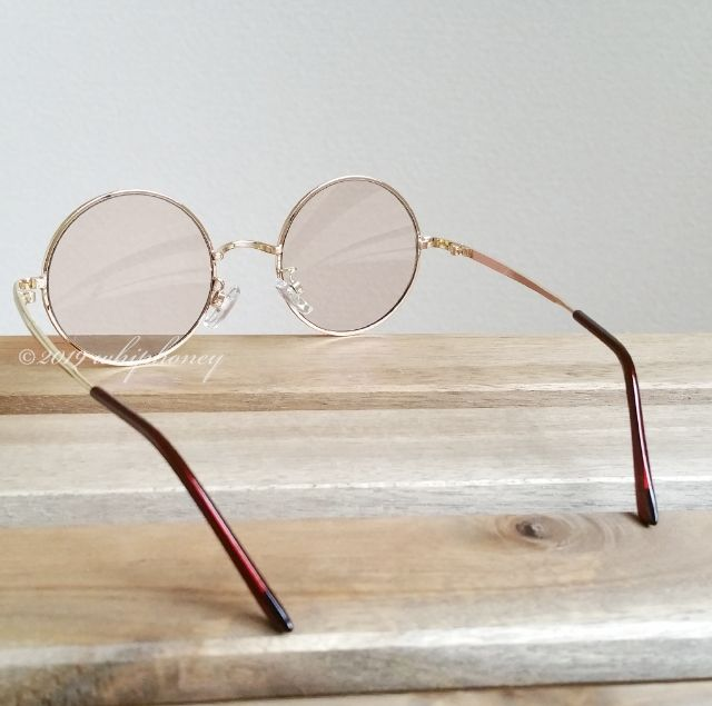 トレンドを詰め込んだ50mm丸メガネUVサングラス薄ブラウン