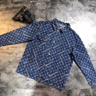 LV supreme 男女兼用 デニムジャケット コート