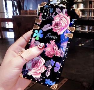 iPhoneケース スクエア 花柄