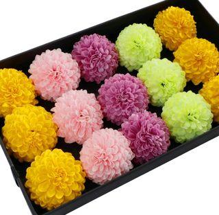 652 選べる色 ソープフラワー ピンポン菊 花材 5個