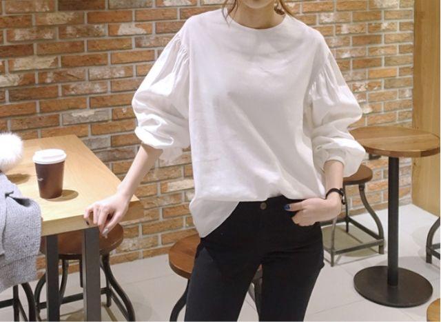 【フレンチスタイル】パフスリーブ シャツブラウス XLサイズ