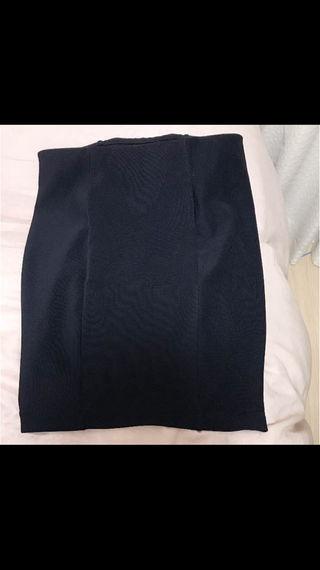 スウェットスカート ネイビー 膝丈