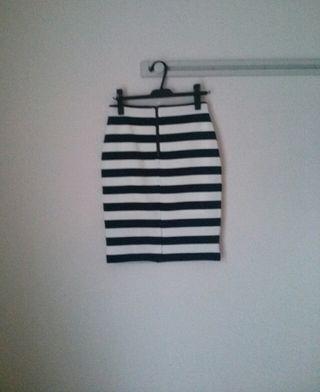 新品!PROFILE ボーダータイトスカート