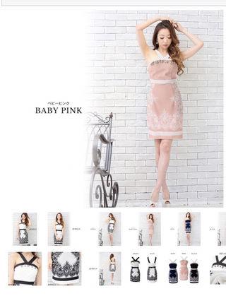【Jewels】レースxバイカラータイトミニキャバドレス