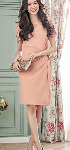◆新品◆パーティー 結婚式 お呼ばれ 膝丈 スカート L