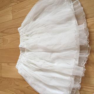 チュールスカート 白
