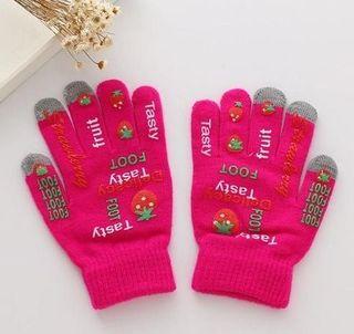iPhone タッチパネル 対応 手袋 ショッキング ピンク
