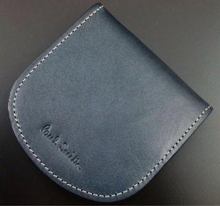 新品/箱付 ポールスミス 高級牛革使用 コインケース 紺