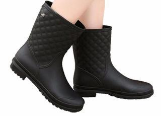 レインブーツ レディース 長靴 梅雨対策 ブラック