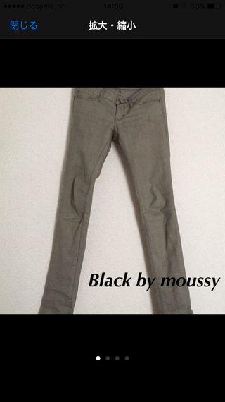 BLACK by moussy パンツ サイズS