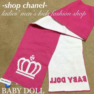 新品BABY DOLLリバーシブルマフラー/KIDS