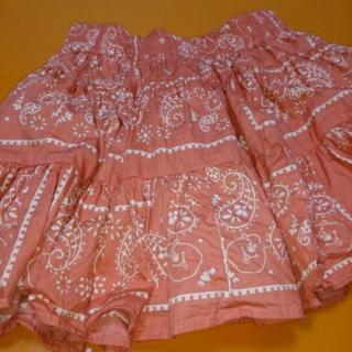 WC  バンダナスカート赤