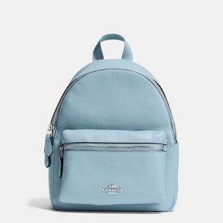 大人気COACHのバッグパック☆ライトブルー☆60%オフ!