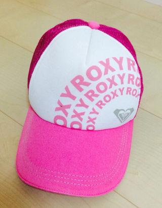 ROXY ロゴ ピンク キャップ