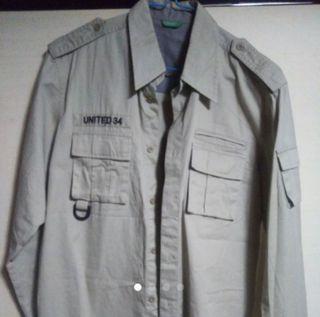 シャツ 長袖 メンズXSサイズ→160男子