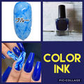 color ink  blue