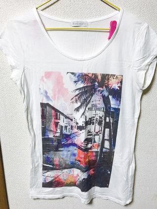 お洒落プリントTシャツ