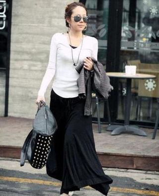 不規則 スカート ブラック