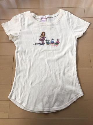 レベッカテイラーTシャツSサイズクリーム色