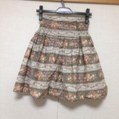 Crisp 花柄×ボーダー スカート