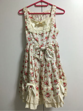 Baby 白花柄ジャンパースカート
