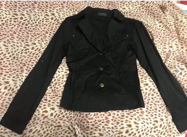 ブラック 黒 シャツ?ジャッケット