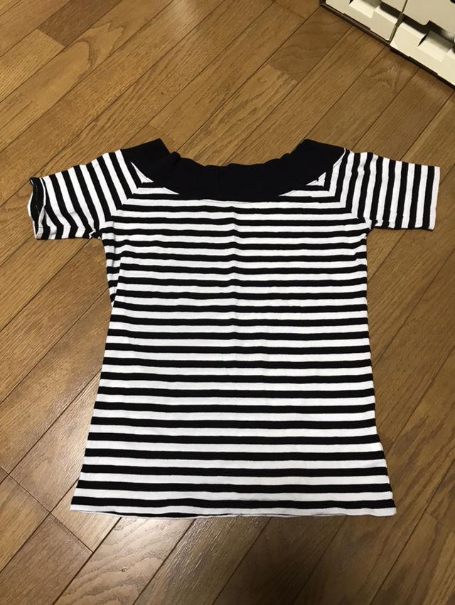 [美品] moussy ボーダー Tシャツ オフショル(moussy(マウジー) ) - フリマアプリ&サイトShoppies[ショッピーズ]