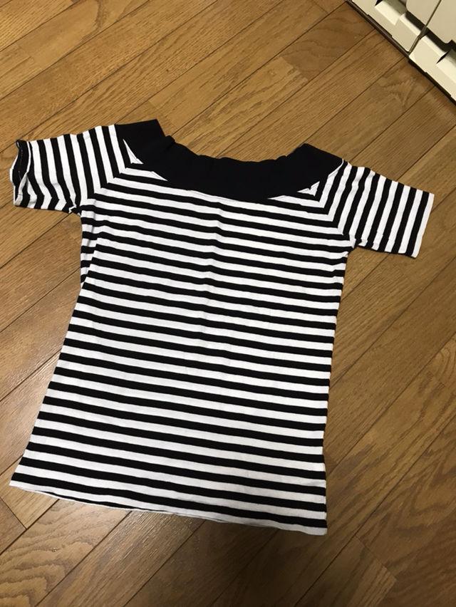 [美品] moussy ボーダー Tシャツ オフショル