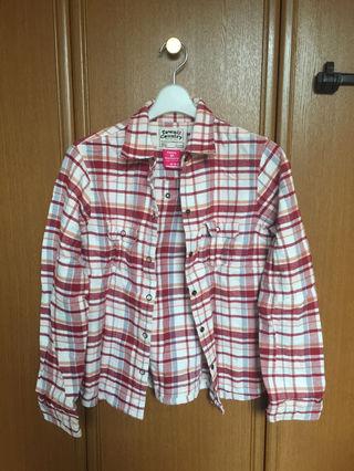 赤 チェック シャツ