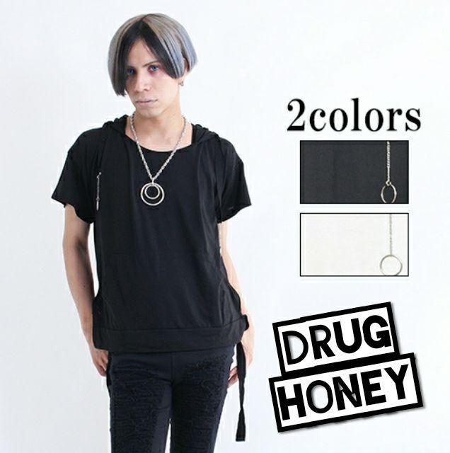 【DrugHoney】フロントポッケリング付半袖カットソー黒(FUNKY FRUIT(ファンキーフルーツ) ) - フリマアプリ&サイトShoppies[ショッピーズ]
