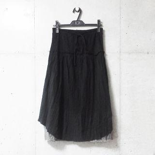 重ね着風ロングスカート
