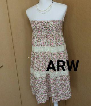ARW   小花柄ベアワンピース