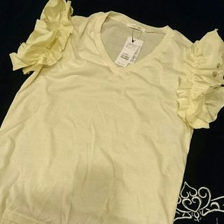 ROYALPATY  新品タグ付き黄色フリル袖シャツ